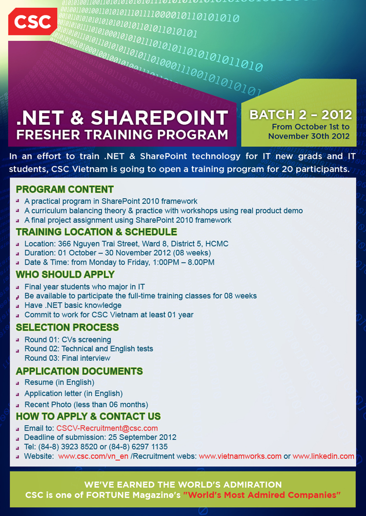 Poster of NET & SP Fresher Program Q4 2012