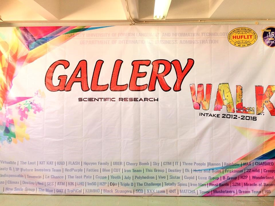 Hình 1: Backdrop GALLERY WALK 2016
